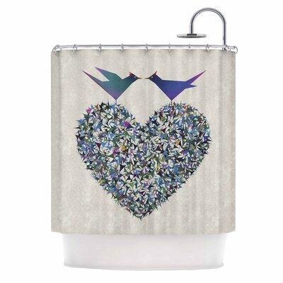 Angelo Cerantola Our Love Illustration Shower Curtain