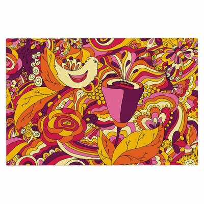 Alisa Drukman Birds in Garden 2 Abstract Doormat