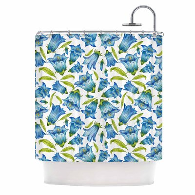 Alisa Drukman Campanula Floral Shower Curtain