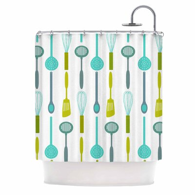 Afe Images Kitchen Utensils Illustration Shower Curtain