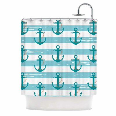 Afe Images Nautical Anchor Illustration Shower Curtain
