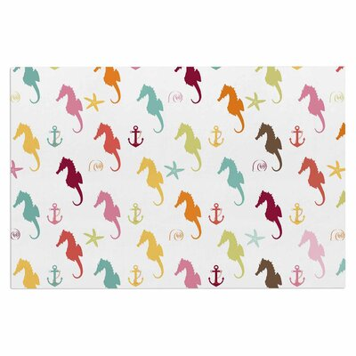 Afe Images Colorful Seahorse Illustration Doormat