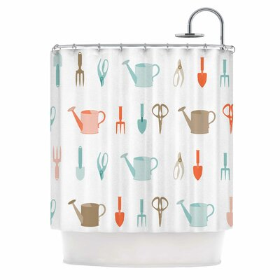 Afe Images Gardening Tools Abstract Shower Curtain