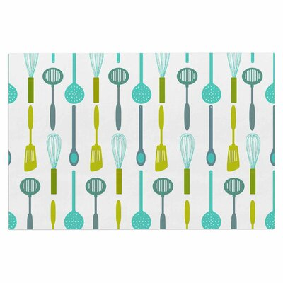 Afe Images Kitchen Utensils Illustration Doormat