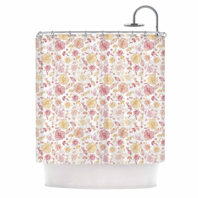 Alisa Drukman Summer Line Illustration Shower Curtain