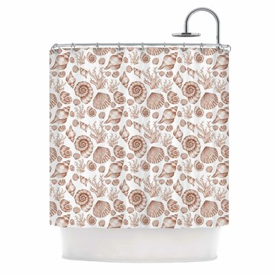 Alisa Drukman Seashells Nature Shower Curtain