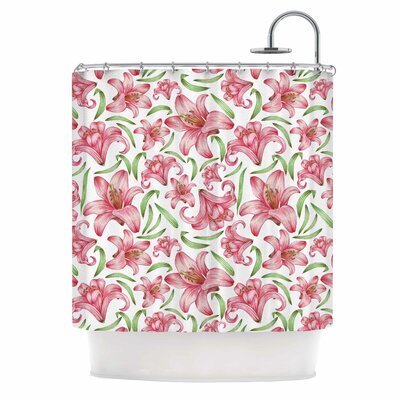 Alisa Drukman Lily Flowers Nature Shower Curtain