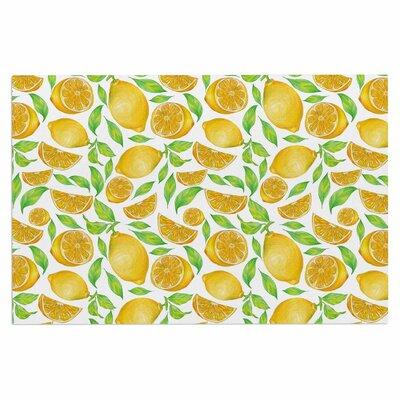 Alisa Drukman Lemons Floral Doormat