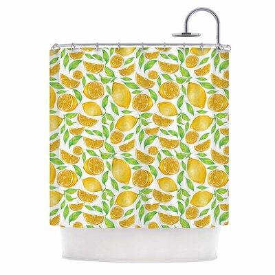 Alisa Drukman Lemons Floral Shower Curtain