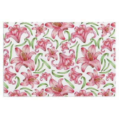 Alisa Drukman Lily Flowers Nature Doormat