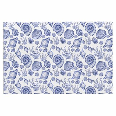 Alisa Drukman Seashells Coastal Abstract Doormat Color: Blue