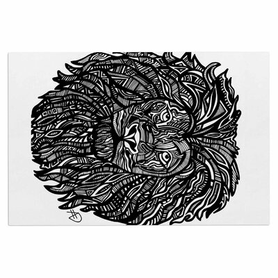 Adriana De Leon The Leon Lion Illustration Doormat
