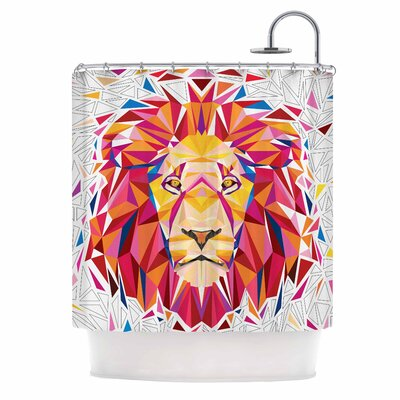 Ancello Rainbow Lion Digital Shower Curtain