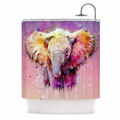 Ancello Elephant Digital Shower Curtain