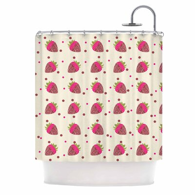 Afe Images Chocolate Strawberries Digital Shower Curtain