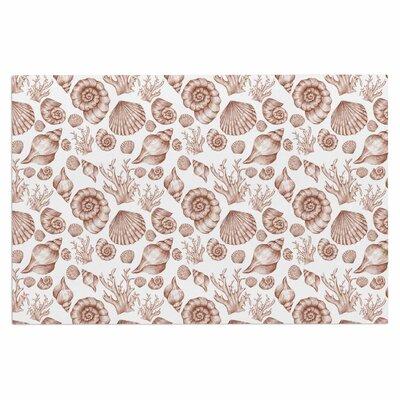 Alisa Drukman Seashells Coastal Abstract Doormat Color: Brown