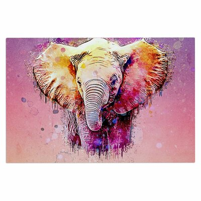 Ancello Watercolor Elephant Digital Doormat