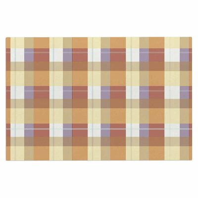 Afe Images Plaid II Illustration Doormat Color: Brown/Tan