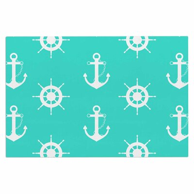 Afe Images Anchor and Helm Wheel Illustration Doormat