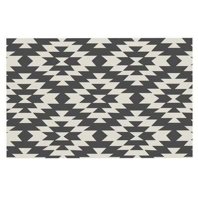 Amanda Lane Navajo Tribal Geometric Doormat Color: Black/Cream