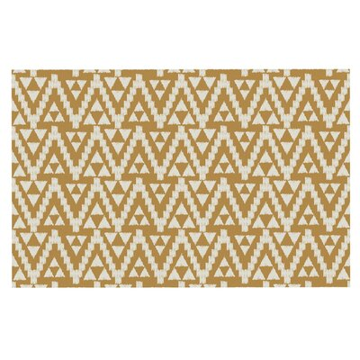 Amanda Lane Geo Tribal Tribal Doormat Color: Mustard/Yellow Aztec