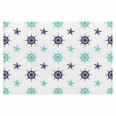 Afe Images Helm Wheel and Starfish Illustration Doormat