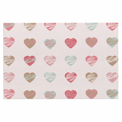 Afe Images Pastel Hearts Illustration Doormat