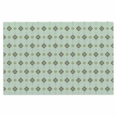 Afe Images Triangles and Flowers Illustration Doormat