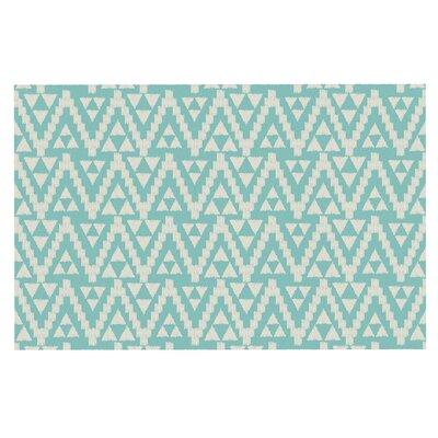 Amanda Lane Geo Tribal Tribal Doormat Color: Sky/Teal Aztec