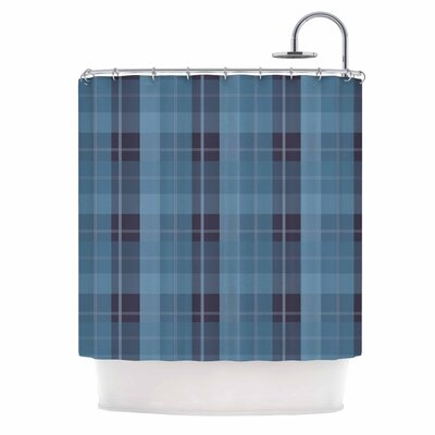 Afe Images Plaid II Illustration Shower Curtain Color: Blue