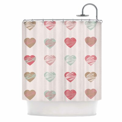 Afe Images Hearts Illustration Shower Curtain
