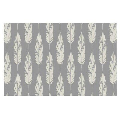 Amanda Lane Feathers Doormat Color: Gray/Cream