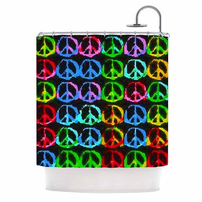 Anne LaBrie Give Peace a Chance Pop Art Shower Curtain