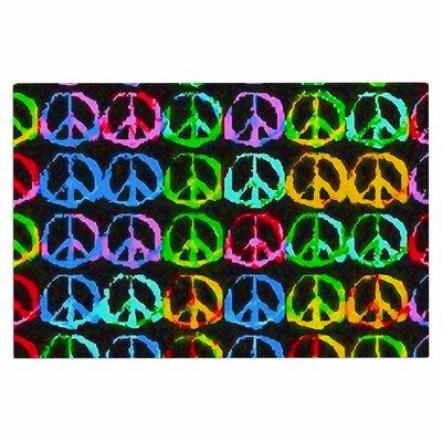 Anne LaBrie Give Peace A Chance Pop Art Doormat
