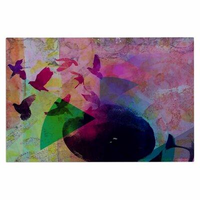 AlyZen Moonshadow Tea Birds Doormat