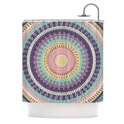 Amanda Lane Bohemian Tribal Mandala Digital Shower Curtain Color: Purple/Pink