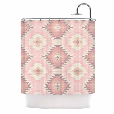 Amanda Lane Soft Navajo Digital Shower Curtain