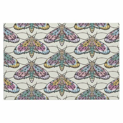 Amanda Lane Boho Gypsy Moth Digital Illustration Doormat