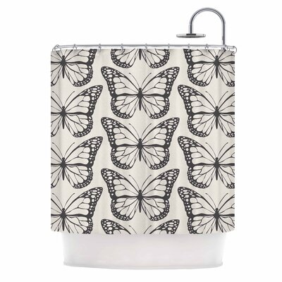 Amanda Lane Monarch Spirit Illustration Shower Curtain