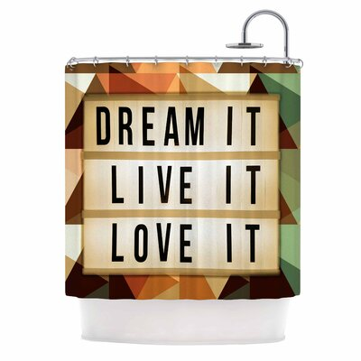 AlyZen Moonshadow Dream it Typography Shower Curtain