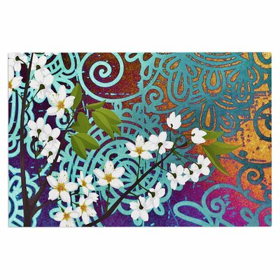 AlyZen Moonshadow Bird Blossom Doormat