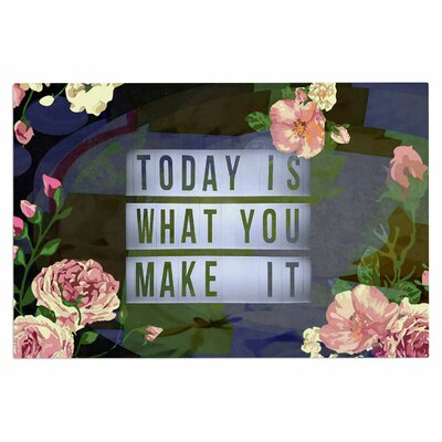 AlyZen Moonshadow Today is What You Make it 1 Typography Doormat