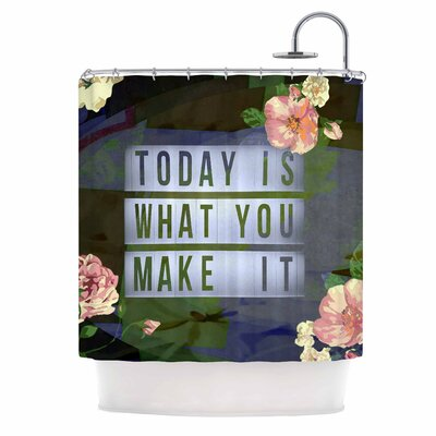 AlyZen Moonshadow Today is What You Make it 1 Typography Shower Curt