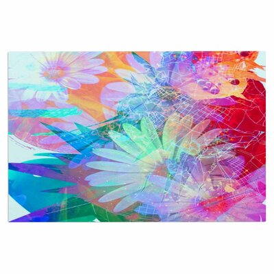 AlyZen Moonshadow Floral Meld Abstract Digital Doormat