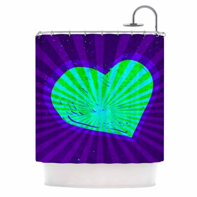 Anne LaBrie Love Light Modern Shower Curtain Color: Purple/Green