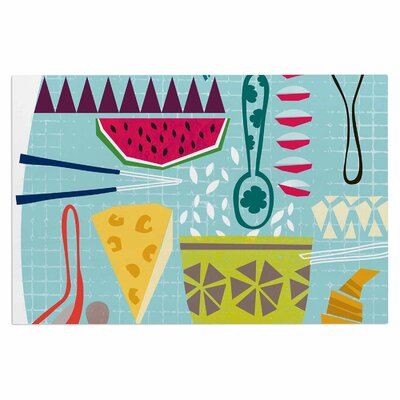 Agnes Schugardt Dinner Out Food Vintage Doormat