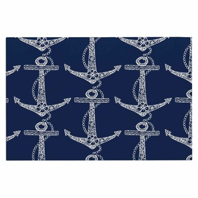 Amy Reber Floral Anchor Doormat