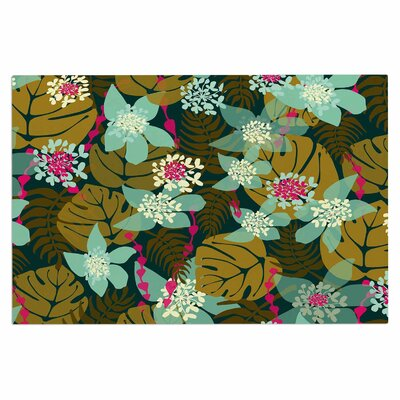 Amy Reber Tropical Tropical Floral Doormat