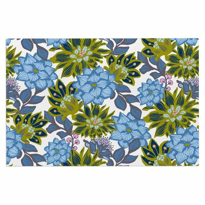 Amy Reber Dahlias Floral Doormat