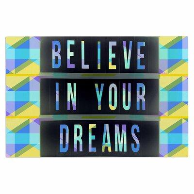 AlyZen Moonshadow Believe in Your Dreams 1 Typography Doormat